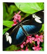 Sara Longwing Butterfly Fleece Blanket
