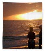 Sarasota Sunset Fleece Blanket