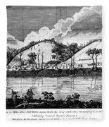 Saratoga: Encampment, 1777 Fleece Blanket