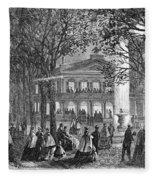 Saratoga Springs, 1865 Fleece Blanket
