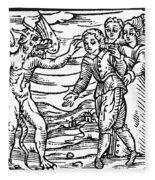 Satan & Sorcerer, 1626 Fleece Blanket