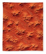 Satellite View Of Murzuk Desert, Libya Fleece Blanket
