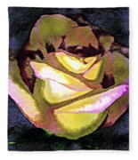 Scanned Rose Water Color Digital Photogram Fleece Blanket
