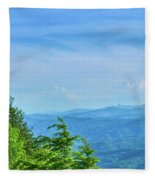 Scenic View Of Mountain Range Fleece Blanket