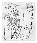 Schickard Calculator Fleece Blanket