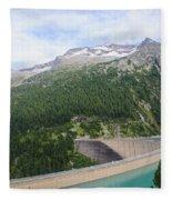 Schlegeis Dam And Reservoir  Fleece Blanket