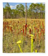 Schnell's Pitcher Plant Fleece Blanket