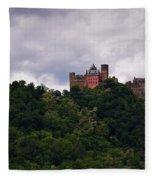 Schonburg Oberwesel Am Rhein Fleece Blanket