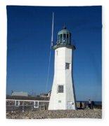 Scituate Lighthouse Fleece Blanket