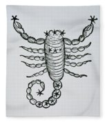 Scorpio Fleece Blanket