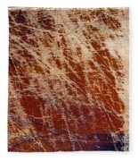 Scratched Wood Texture Fleece Blanket