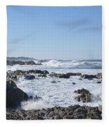 Sea Foam Fleece Blanket