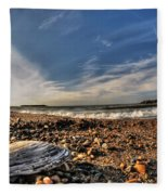 Sea Shell Sea Shell By The Sea Shore At Presque Isle State Park Series Fleece Blanket