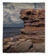Sea Stack At North Cape On Prince Edward Island Fleece Blanket