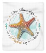 Sea Stars Align For A Perfect Day At The Beach Fleece Blanket