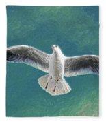 10427 Seagull In Flight Fleece Blanket