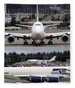 Seahawks 747 Fleece Blanket