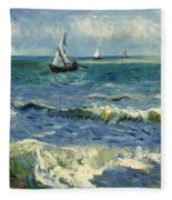 Seascape Near Les Saintes-maries-de-la-mer Fleece Blanket