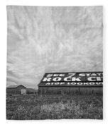 See Rock City - Farm In Tennessee Fleece Blanket