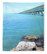 Seven Mile Bridge-2 Fleece Blanket