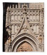 Seville Cathedral Ornamentation Fleece Blanket