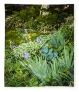 Shady Garden Fleece Blanket