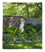 Shady Perennial Garden Fleece Blanket