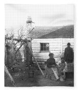 Sharecropper Family, 1900 Fleece Blanket