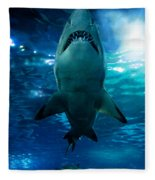 Shark Silhouette Underwater Fleece Blanket