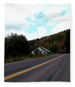 Shed In The Hills Fleece Blanket