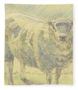 Sheep Sketch Fleece Blanket