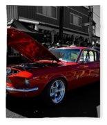 Shelby Gt 500 Mustang Fleece Blanket