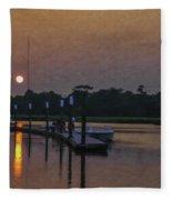 Sunset Life On Shem Creek  Fleece Blanket
