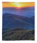 Shenandoah Sunset Fleece Blanket
