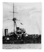 Ships Hms 'dreadnought Fleece Blanket