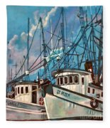 Shrimpboats Fleece Blanket