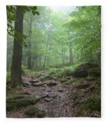 Silence Of The Forest Fleece Blanket