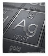 Silver Chemical Element Fleece Blanket