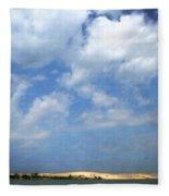 Silver Lake Sand Dunes Fleece Blanket