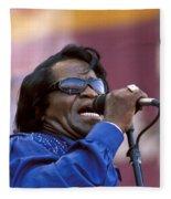 Singer James Brown Fleece Blanket