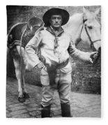 Sir Genille Cave Brown Cave (1869-1929) Fleece Blanket