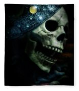 Skull In Crown Fleece Blanket