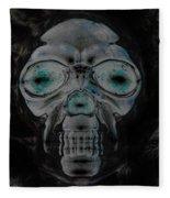 Skull In Negative Fleece Blanket