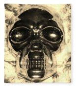 Skull In Sepia Fleece Blanket