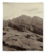 Slope Of Hills In The Scottish Highlands Fleece Blanket