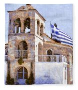 Small Greek Church Fleece Blanket