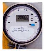 Smart Grid Residential Digital Power Supply Meter Fleece Blanket