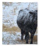 Snow Angus Fleece Blanket