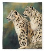 Snow Leopards Fleece Blanket