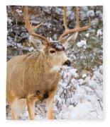 Snowstorm Deer Fleece Blanket